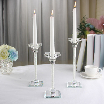 wedding home party candle holders backdrop crystal glass candlestick stand decoration luxury romantic creative accessories
