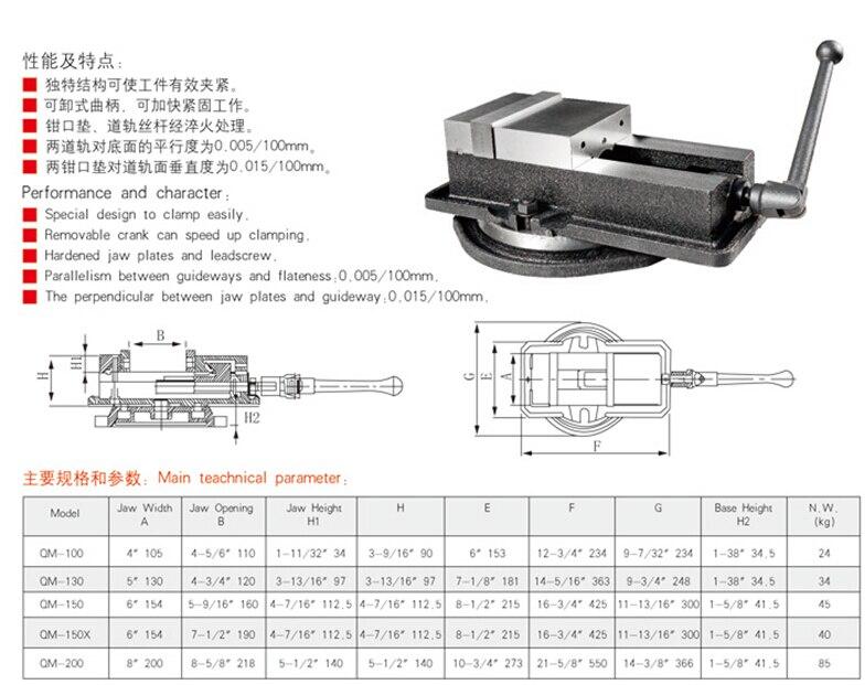 QM130 outils de vises de machinesQM130 outils de vises de machines