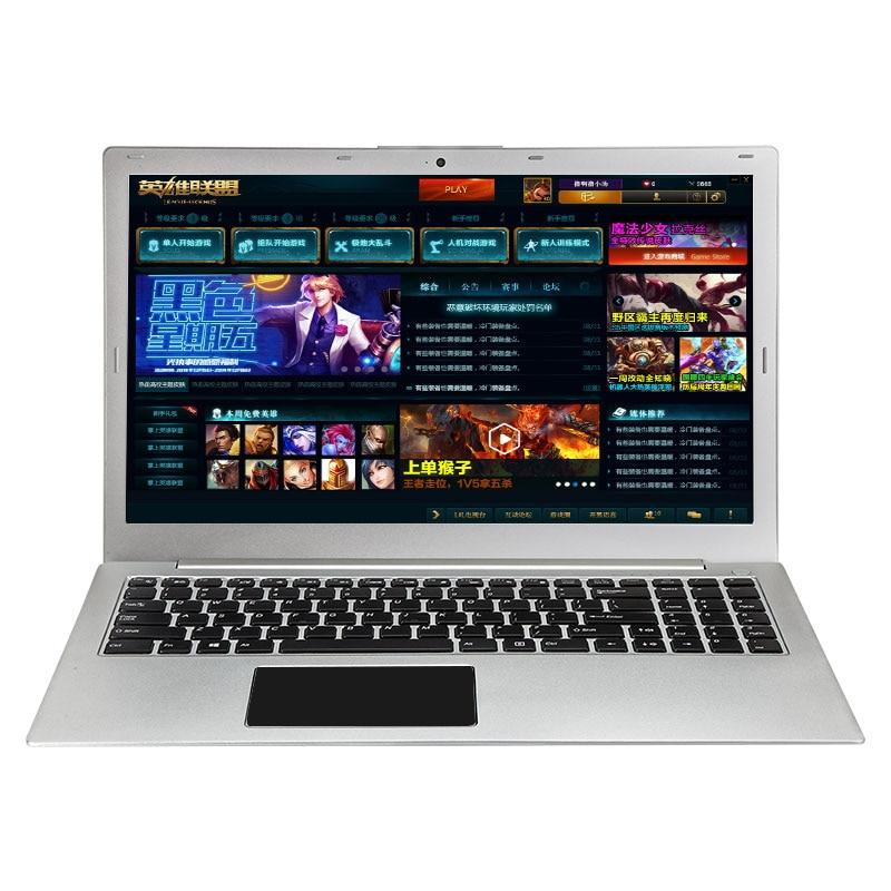 (P10) 15.6 pollici Intel i7-6500 Quad Core Win10 2.5 GHZ-3.1 GHZ ad Alta velocità di Disegno/Gaming Taccuino Del Computer Portatile Del Computer