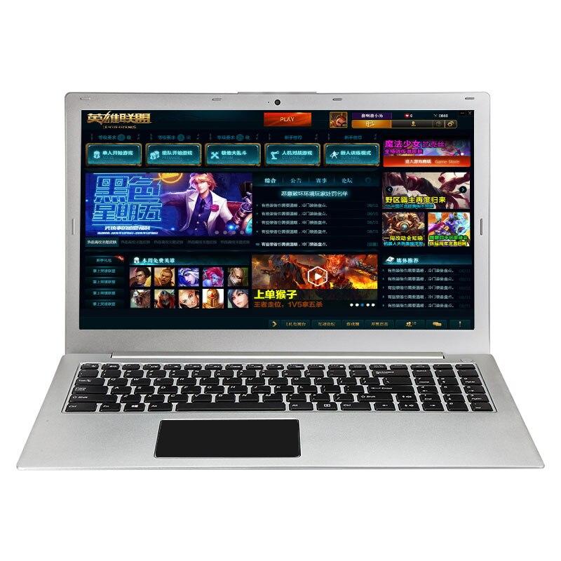 (P10) 15.6 pouces Intel i7-6500 Quad Core Win10 2.5 GHZ-3.1 GHZ Haute vitesse Conception/Jeu Portable Ordinateur portable