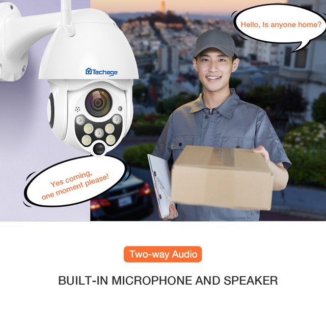 Techage 1080P 2MP Wireless PTZ IP Camera Speed Dome WIFI Security Camera Outdoor P2P Cloud ONVIF Two Way Audio CCTV Surveillance