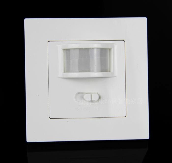 Darmowe zakupy AC110V 220 V na/wyłączanie podczerwieni czujnik ruchu PIR czujnik dźwięku przełącznik, wbudowane oświetlenie ścienne