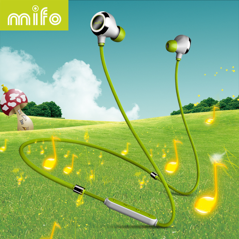 mifo i6 Wireless Bluetooth Earphone In-Ear Earpiece Microphone Stereo Music Bass Earbuds Workout Sport Headset For Iphone Xiaomi fineblue f v2 bluetooth stereo headset bt4 0 voice prompt wireless music earphone earpiece cable with clip for oppo for iphone