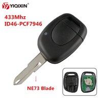 YIQIXIN 1 Tasto Chiave A Distanza Dell'automobile 433 Mhz ID46 PCF7946 Chip di Misura Per Renault Master Kangoo Clio Twingo Con NE72 /206 Lama|Chiave per auto|Automobili e motocicli -