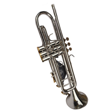 1 Set Custom Professional Trumpet For Sale Copy Bach 180 S-43 Little Instrument Surface Silver Trompete Brass Tube Bb Trombeta