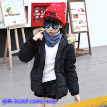 2016 новый дети девушка моды теплое пальто для девочек 5-13 год дети милашки дети хлопок шить бренд одежда для зимы 26177B