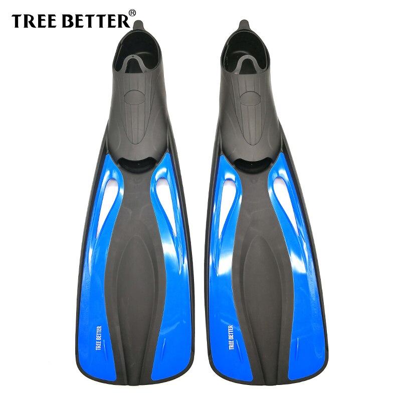 ARBRE MIEUX palmes De Natation pour adultes Snorkeling Palmes de Plongée longue plein pied palmes Submersible chaussures Professionnel Bleu 36 à 48