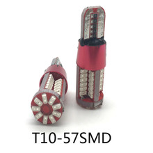 JURUS 2Pcs T10 W5W LED 194 Auto CANBUS NO Error Car Clearance Reading Light 57SMD 4014 Lamp Bulb Acessories Dome 12V