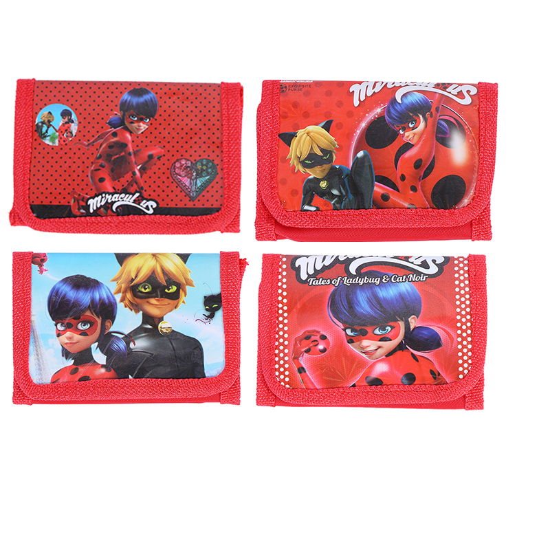12Pcs Miraculous Ladybug Marinette Noir Cat Mini Purses Money Bag Coin Pouch Children Purse Small Wallet For Kids Party Supplies cute girl hasp small wallets women coin purses female coin bag lady cotton cloth pouch kids money mini bag children change purse