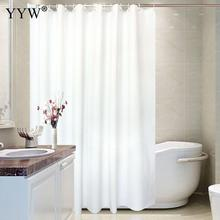 1 Pc White Shower Curtain Large Bath Screens Bathroom Waterproof Curtains For Douchegor Home Decor