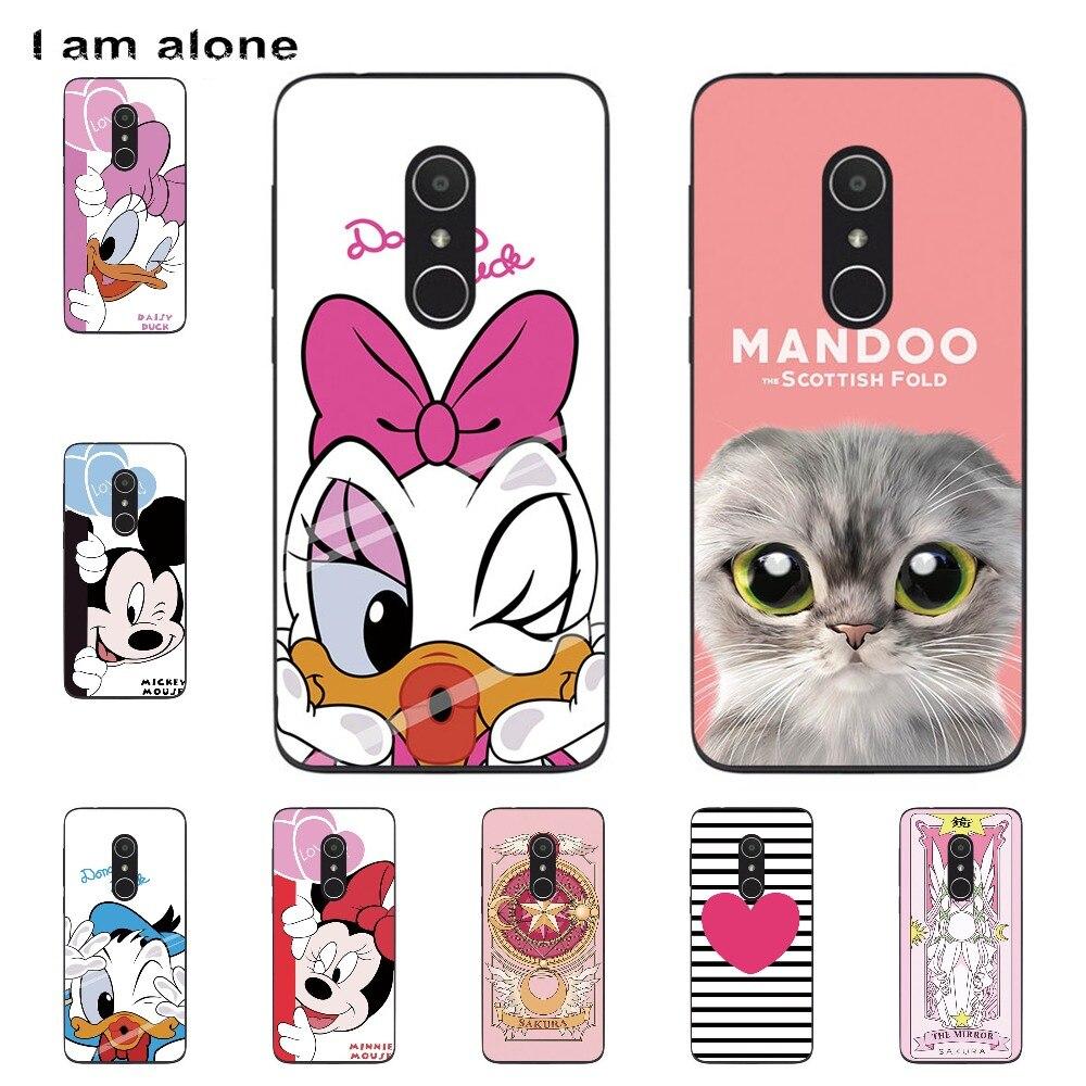 I Am Alone Phone Shell For Alcatel 1X 5059A 5059D 5059I 5059J 5059T 5.3 Inch Solf TPU Fashion Cute Color Paint Mobile Case