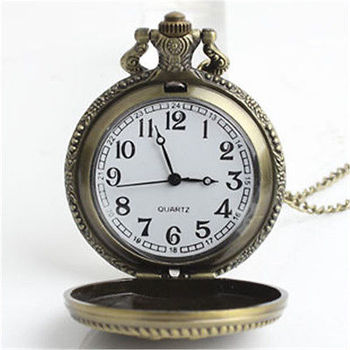 High Quality Retro Style Bronze Steampunk Quartz Necklace Pendant Chain Clock Pocket Watch for women men hot sale & good retro bronze men fashion pocket watch national austria the double eagle chain necklace quartz full hunter emblem clock male