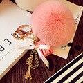 New Cute Handmade Rabbit Animal Fur Doll Plush Toy Kids Friends Gift Keychain Bag Pendant Decorations Stuffed Toys L2316
