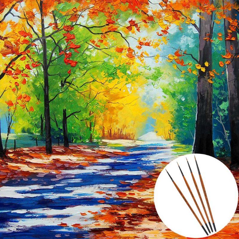 10X Nylon Hair Artist Paint Brush Acrylic Watercolor Round Fine Hand Point B$CA