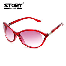 STORY Design women Classic Brand european sunglasses 2017 fashion trend cat eye sun glasses Acrylic frame Luxury UV400 eyewear