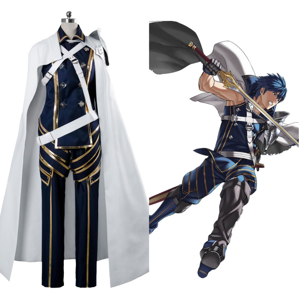 Fire Emblem Awakening Prince Chrom Battle Suit Cosplay Costume Full Set Uniform Outfit Adult Halloween Cosplay Game Costume