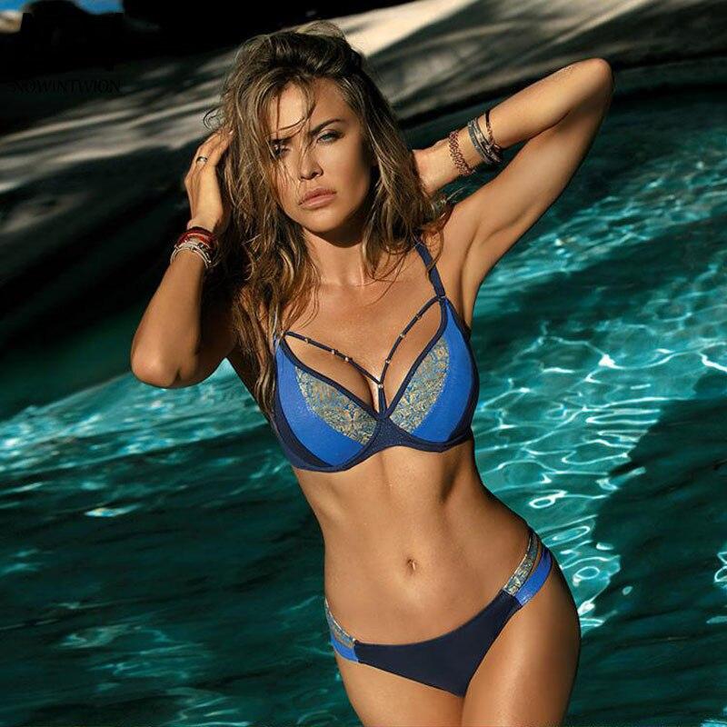 ac792daad80db Sexy Bikini 2019 Badeanzug Frauen Bademode Bikini Set Push Up ...