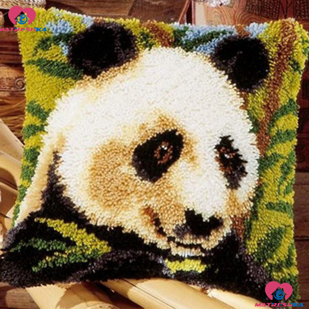 Latch Hook Rug Kits Embroidery Pillow Panda Cushiondo it yourselfAccessories Printing Foamiran for crafts cross-stitch pillowLatch Hook Rug Kits Embroidery Pillow Panda Cushiondo it yourselfAccessories Printing Foamiran for crafts cross-stitch pillow