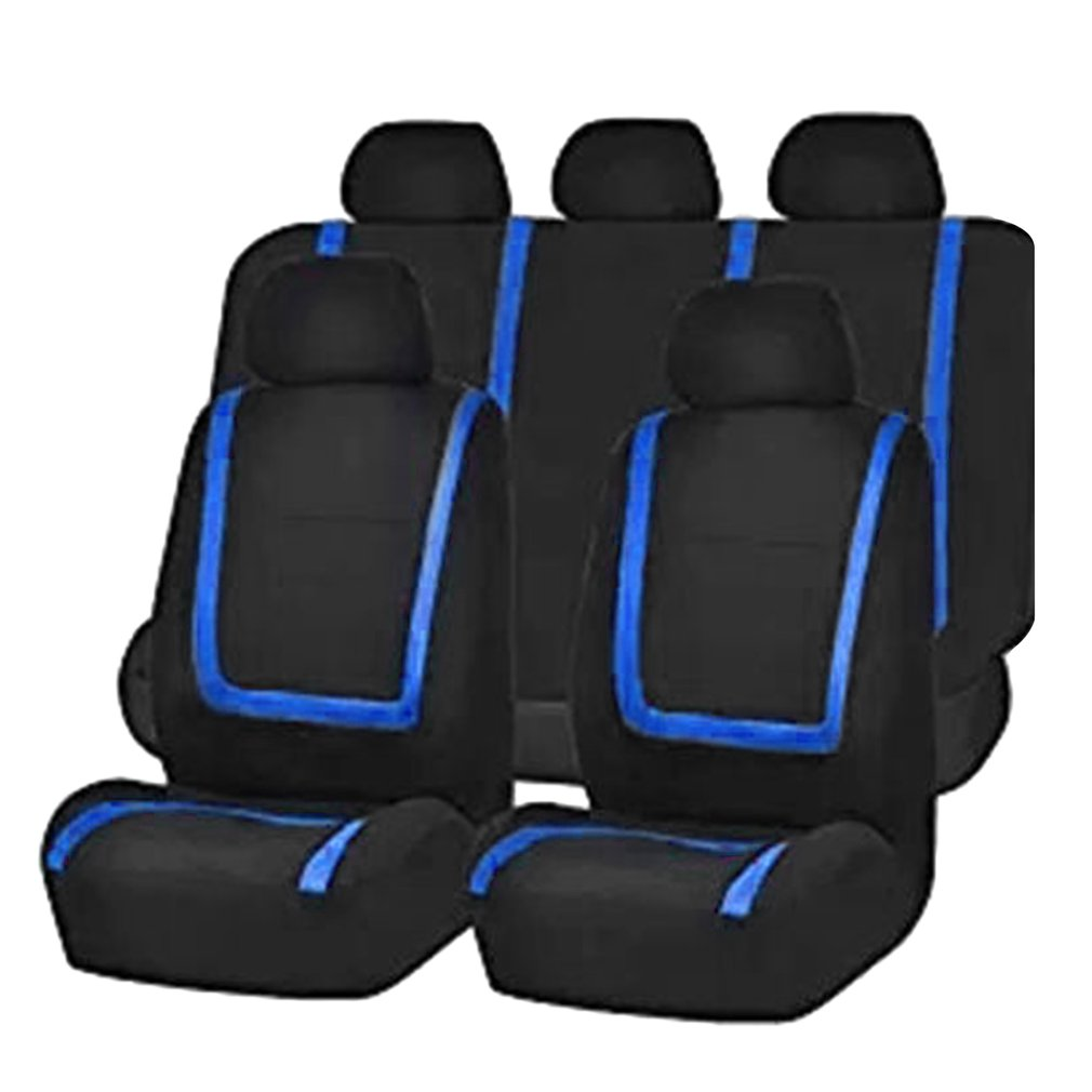 9pcs Car Seat Covers Detachable Washable Knitted for Car Sedan Truck Van Universal Vehicle Seat Protective Covers Car-styling