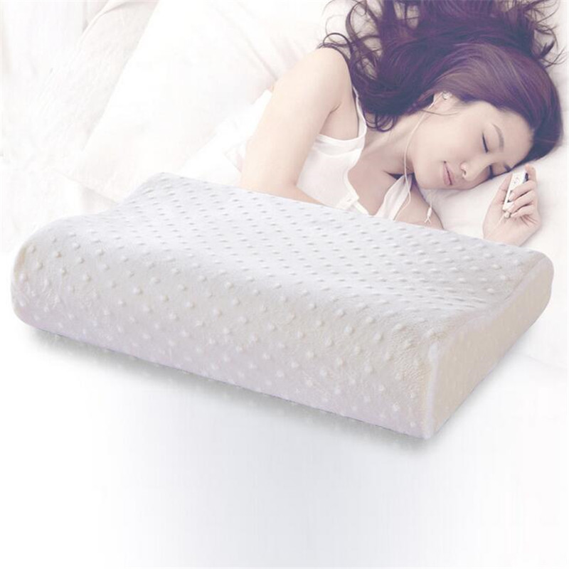 comfortable orthopedic memory foam pillow slow rebound neck pillow cervical health care orthopedic latex neck bed