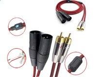 1 м 2 м 3 м 5 м 8 м-Двойной RCA для Dual XLR 3pin мужской аудио кабель для микрофона Усилители домашние смеситель микшерные пульты 2rca к 2xlr