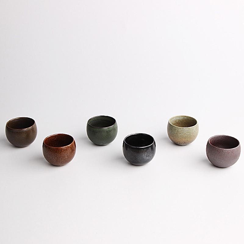 Gaya jepang Drinkware Kuno Kiln Kasar Tembikar Cangkir Teh Keramik - Dapur, ruang makan, dan bar - Foto 2