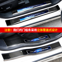 Door Sill Pedal Scuff Plate Stainless Steel Guard Protector Car Styling Sticker for Ford Mondeo 2013 2014 2015 2016 2017 2018