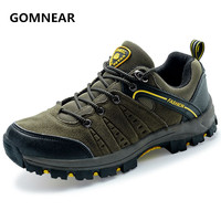 GOMNEAR Top Quality Men Outdoor Trekking Shoes Breathable Antiskid Casual Hunting Shoes Waterproof Tourism Training Sneakers