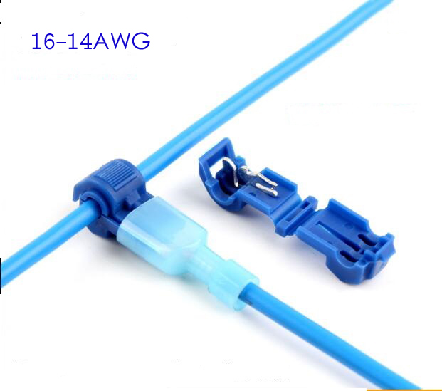 100pcs 50pairs 16 14AWG female T Taps/Male Insulated Connector Wire ...