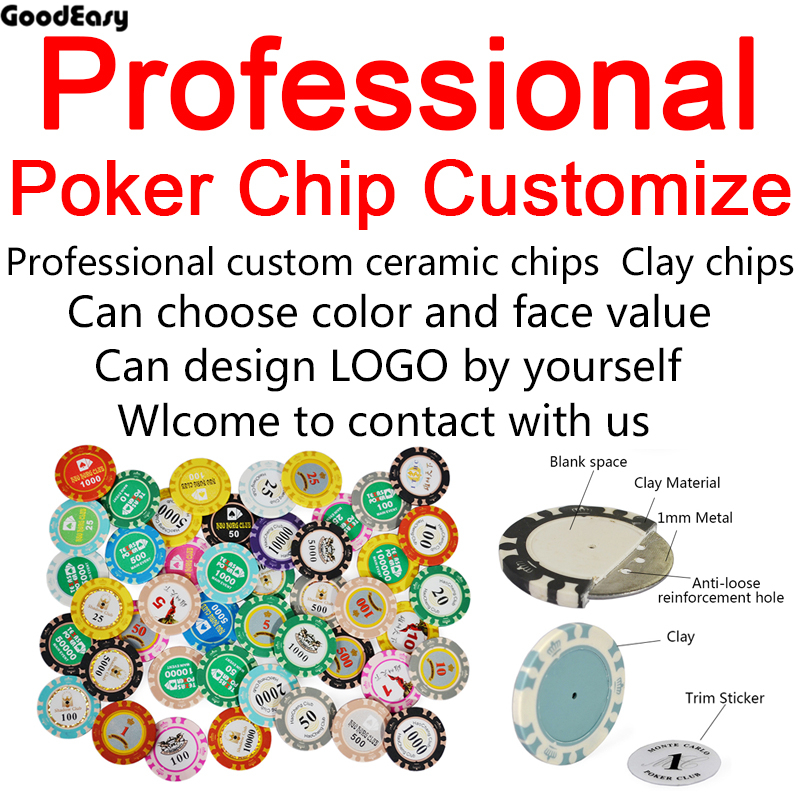 Professional Customizable Texas Hold'em Black Jack 21point Ceramic Poker Chip Sets with Design logo and pattern by yourself 10 players rotary poker set rubber square blue texas hold em poker table mat poker gaming table cloth with shoulder bag