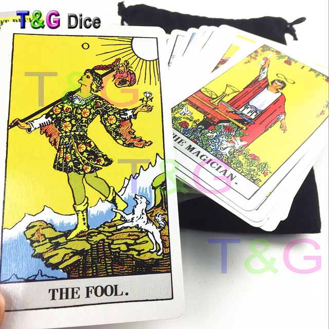 US $14 99  The Magician Complete 78 card Rider Tarot Deck In Full Color  /English Edition of Magical with Black Bags for Games/Divination-in Board