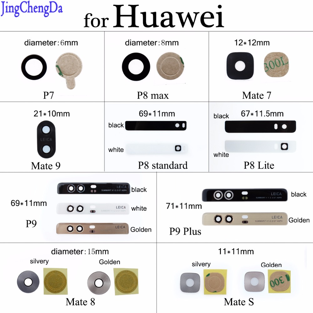 JCD Camera-Lens-Cover Back-Camera Huawei Glass-Replacement Repair-Part With Adhesive