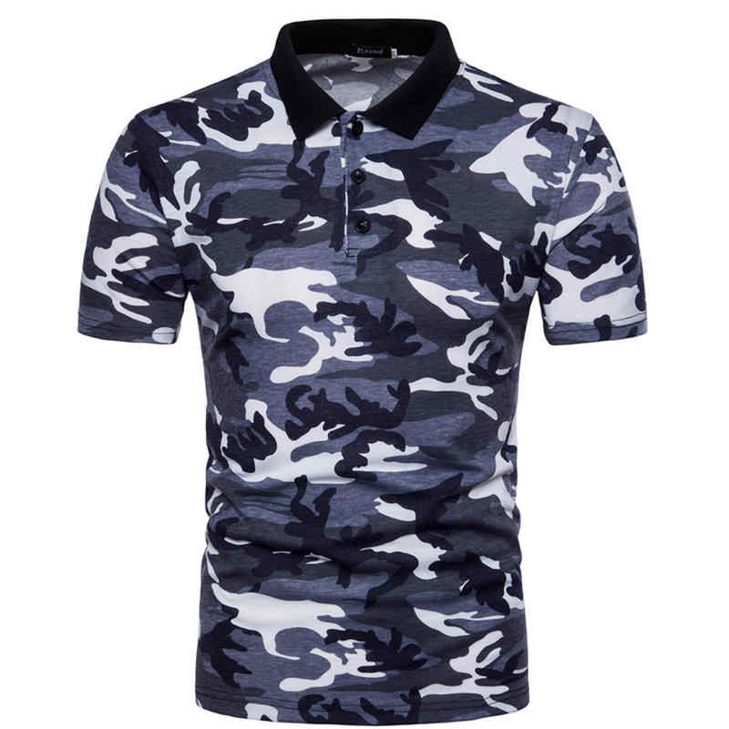 Mens Polo Shirts 2018 Male Short Sleeve Casual Polo Slim Classic Camouflage Polos Men Polo Shirt