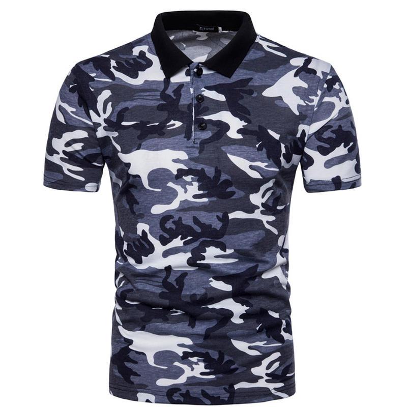 Mens   Polo   Shirts 2018 Male Short Sleeve Casual   Polo   Slim Classic Camouflage   Polos   Men   Polo   Shirt