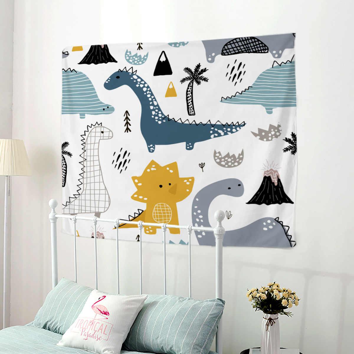 WARMTOUR гобелен милый мультфильм стиль динозавр настенный гобелен домашний декоративный