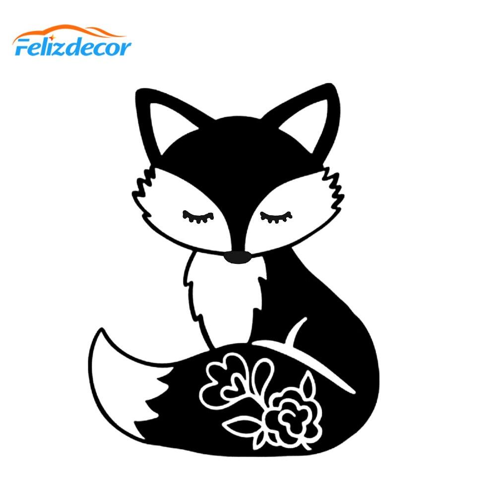 Fox Racing Decal Cartoon Vinly Sticker Laptop Car Window Black or White!