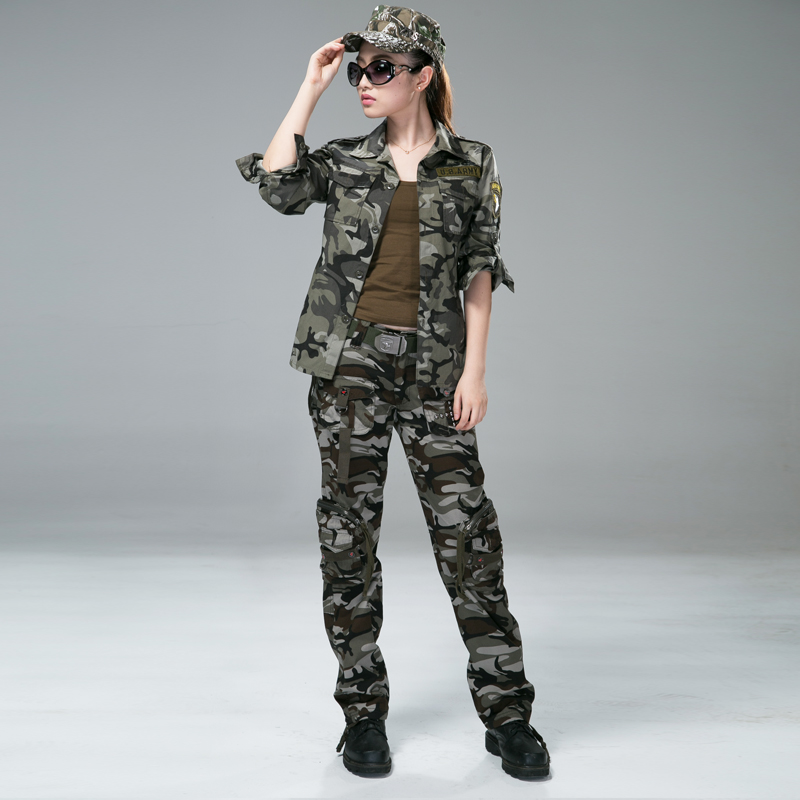 Free Knight Women Outdoor camping Army female Multi pocket clothing CS camo Hiking tactical jacket pant 101 uniform suit camo womens trekking leisure trousers outdoor military army combat tactical multi pocket hiking pants women pantalones mujer