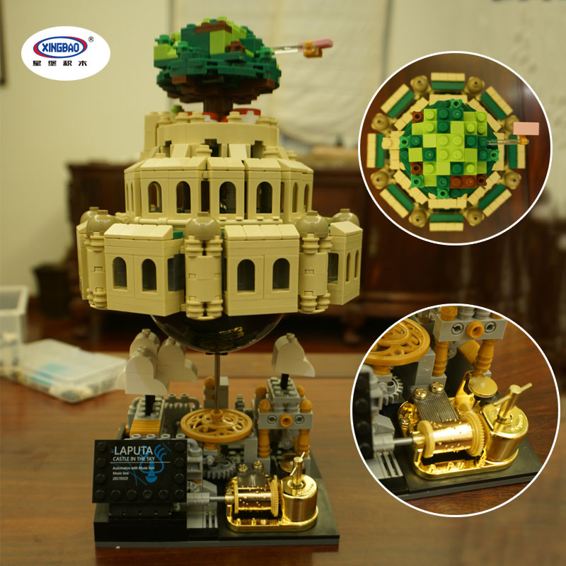 IN STOCK XingBao 05001 1179Pcs Genuine Creative MOC Series The City in The Sky Set Children Educational Building Blocks Bricks xingbao 05001 1179pcs city in the sky set genuine creative moc series educational building blocks bricks model toys for children