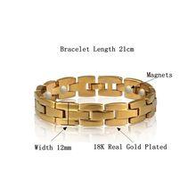 Энергетический магнитный браслет для мужчин и женщин Золотая