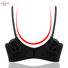 Paerlan Summer Lace Glossy Seamless Wire Free Front Buckle Sexy Bra For Women Super Push Up Underwear Women Backless Strapless