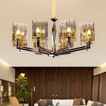 Moderne LED wohnzimmer kristall kronleuchter loft hängen lichter esszimmer  suspension leuchten schlafzimmer beleuchtung hause anhänger lampe