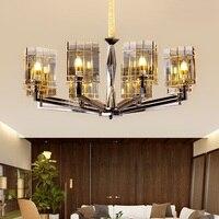 Moderne LED wohnzimmer kristall kronleuchter loft hängen lichter esszimmer suspension leuchten schlafzimmer beleuchtung hause anhänger lampe-in Kronleuchter aus Licht & Beleuchtung bei