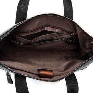 Image 5 - Westal 남자 서류 가방 남자 가방 정품 가죽 서류 가방 남자 노트북 가방 가죽 변호사/메신저 가방 910