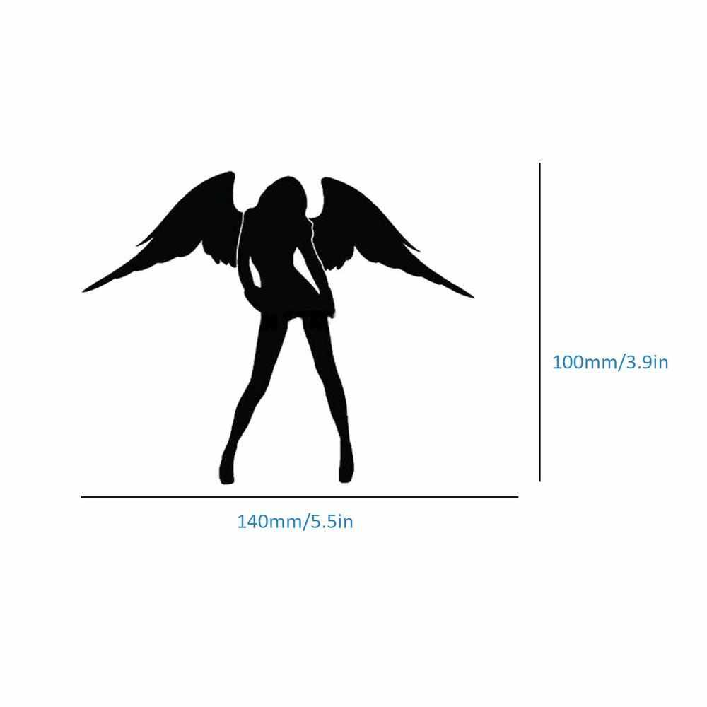 Malaikat dan Iblis Pola Mobil Stiker Reflektif Seksi Kecantikan Wanita Mobil Stiker Vinyl Stiker untuk Mobil Truk Sepeda Motor