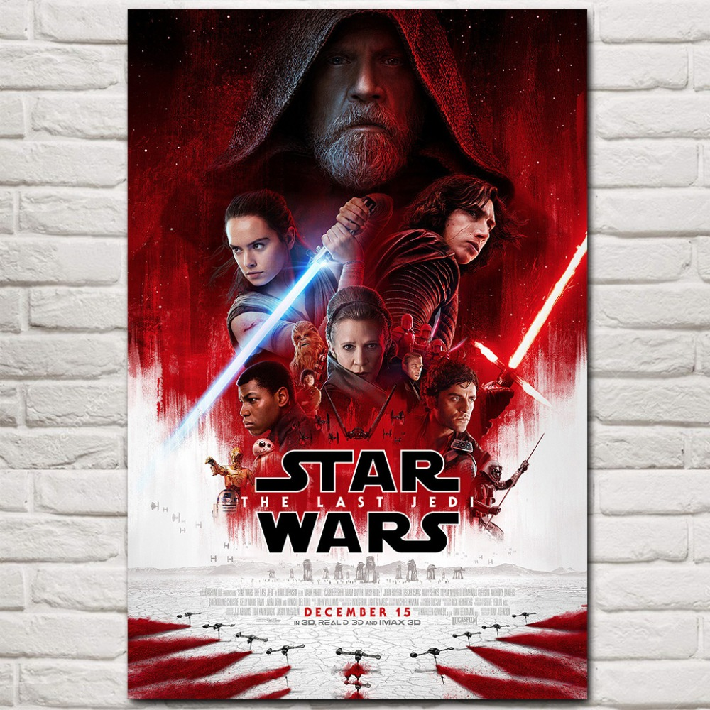 Star Wars The Last Jedi Episode VIII Movie Silk Canvas Poster 12x18 24x36inch-01