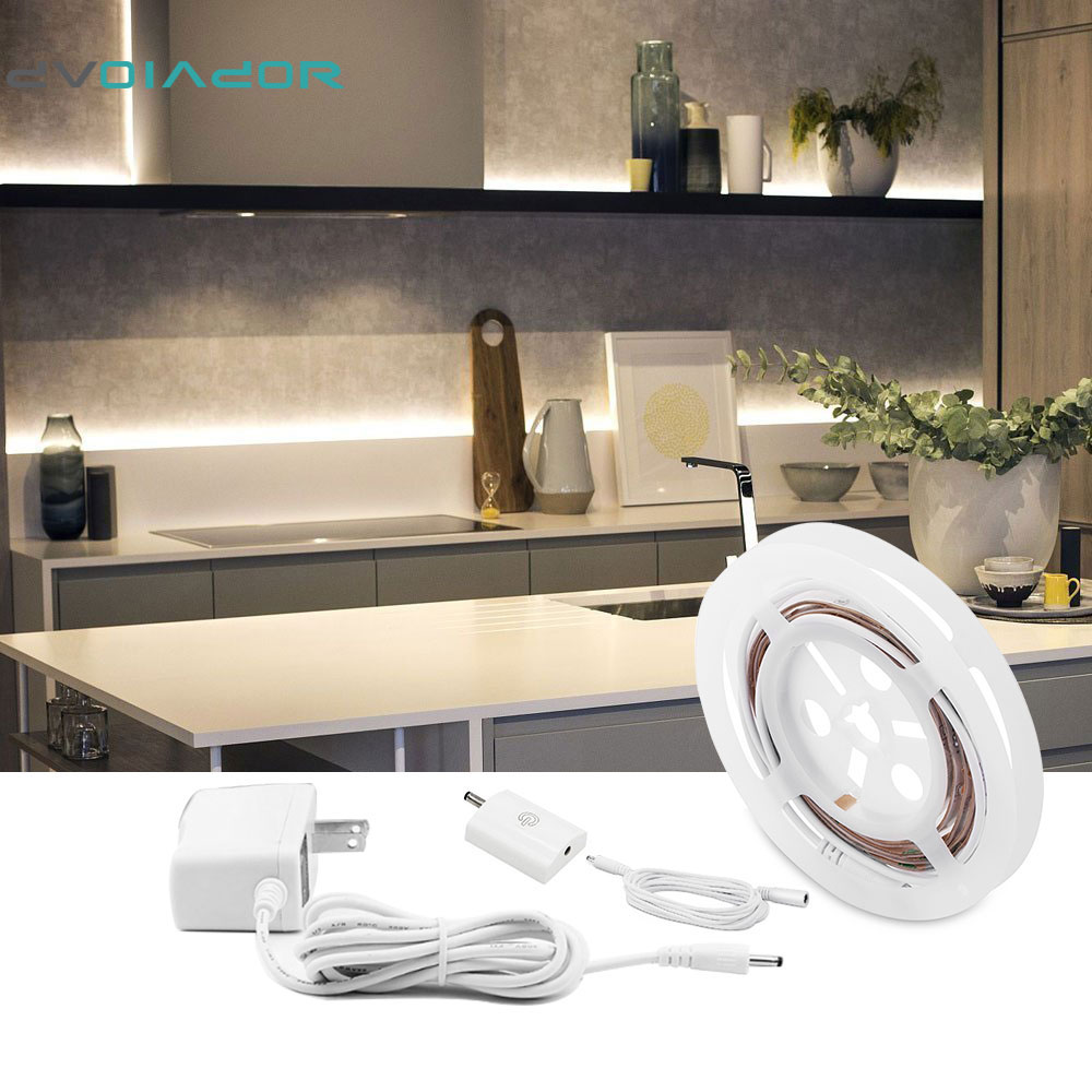 DVOLADOR 1.5M Touch Activated LED Strip,Flexible Night Light Bedside Lamp Illumination Dimmable Under Cabinet Lighting Kit service is power