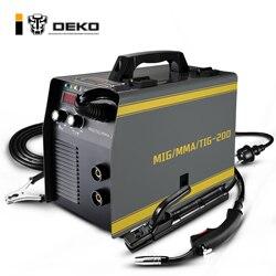 Equipo de soldadura DEKO MKA-200, 5,6 Kva, 220V, 3 en 1 MIG/TIG/MMA MIG