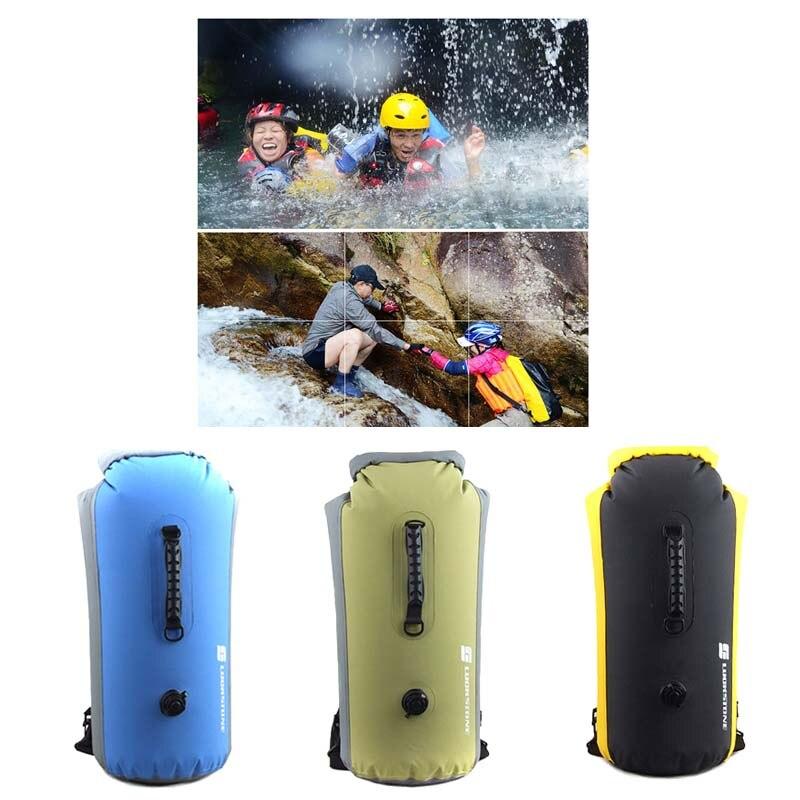 25L/35L/60L Portable Outdoor Travel PVC Diving Bag Travel Dry Bags Kayak Canoe Rafting Bag Waterproof Double-Shoulder Bag W2