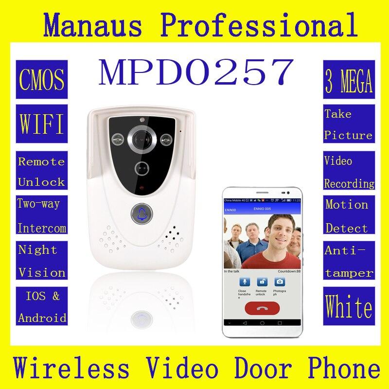 D257b HD 720P Wifi Wireless Video Door Phone Doorbell Intercom With GSM Function Waterproof  IP55 Remote Network Home Building