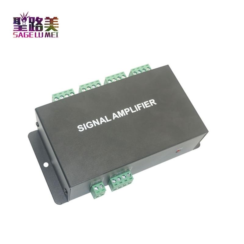 Image 2 - HC800 DC12V 24V 8 channels 8CH SPI TTL signal synchronizer LED amplifier 8 ports output for dream color pixel led strip light-in RGB Controlers from Lights & Lighting